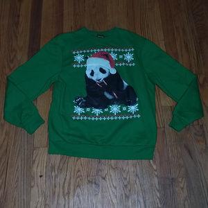 FIFTH SUN Panda Christmas sweater